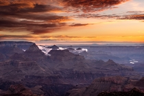 Sunrise over the Grand Canyon at Yavapai Point Colorado USA