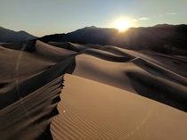 Sunrise over the Great Sand Dunes National Park Colorado USA