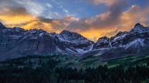 Sunrise over the Maroon Bells CO