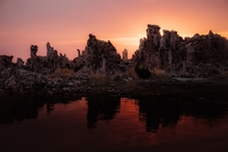 Sunrise over the Tufa at Mono Lake California