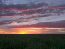 Sunrise over the western Kansas prairie