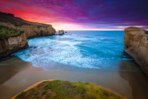 Sunrise over Tunnel Beach
