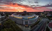 Sunrise over Yankee Stadium