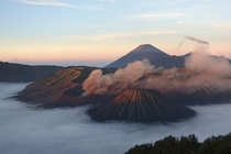 Sunrise overlooking Mt Bromo East Java Indonesia
