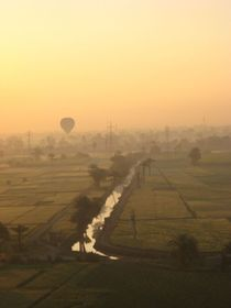 Sunrise taken from a hot air balloon in Aswan Egypt