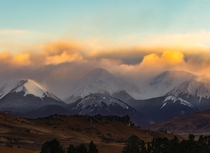 Sunrise Touching the Clouds over some of NZs Southern Alps