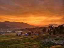 Sunset after a massive storm Dhulikhel Nepal