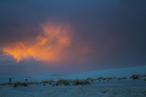 Sunset after a storm white sands new mexico