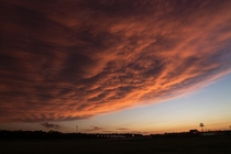 Sunset after Severe Storms in the Norman OK Area
