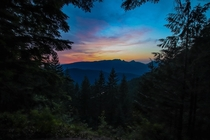 Sunset along the Eagle Ridge trail in Port Moody British Columbia Had to stay a little bit past when they close the gates to the Buntzen Lake park but I just cant resist a good sunset x