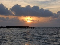 Sunset  Ambergris Caye Belize