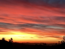 Sunset as viewed from the foothills above Los Angeles  x