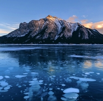 Sunset at Abraham Lake Alberta