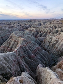 Sunset at Badlands National Park SD