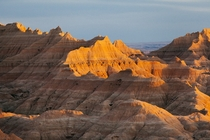 Sunset at Badlands National Park South Dakota