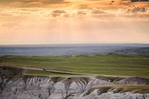 Sunset at Badlands South Dakota
