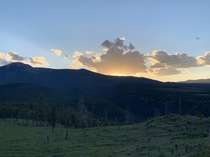 Sunset at Baldy Mountain in Philmont Scout Ranch