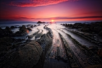 Sunset at Barrika beach Spain  by rgr