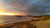 Sunset at Bay of Martyrs Victoria Australia