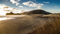Sunset at Bethells Beach Auckland New Zealand x-post with rBeachporn