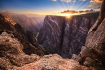 Sunset at Black Canyon of the Gunnison CO  by David Hodge  xpost rSomeoneTookAPicture