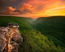 Sunset at Blackwater Falls State Park WV Photo by Steve Perry