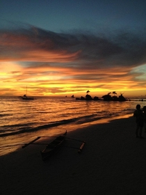 Sunset at Boracay Philippines Took this pic  years ago zero editing