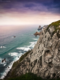Sunset at Cabo da Roca Portugal Europes most western point