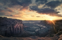 Sunset at Canyonlands National Park UT  by Vinci Palad