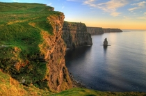 Sunset at Cliffs of Moher Ireland