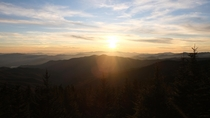 Sunset at Clingmans Dome Great Smoky Mountains