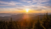 Sunset at Clingmans Dome Great Smoky Mountains National Park