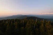 Sunset at Clingmans Dome The Great Smoky Mountains National Park
