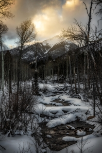 Sunset at Cottonwood Creek and Mt Yale Buena Vista Colorado