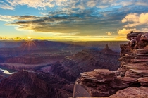 Sunset at Dead Horse Point State Park Utah USA by Drake Jackson
