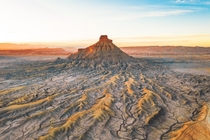 Sunset at Factory Butte Utah USA  jonnyhill_uk