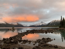Sunset at Garibaldi Lake