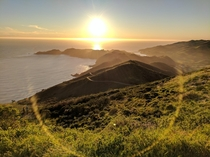 Sunset at Hawk Hill California