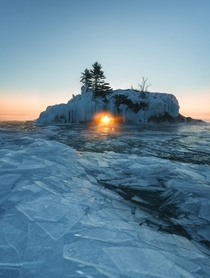 Sunset at Hollow Rock Grand Portage MN