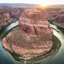 Sunset at Horseshoe Bend in Page AZ