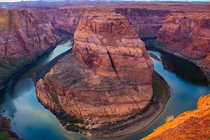 Sunset at Horseshoe Bend Page AZ