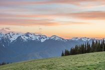 Sunset at Hurricane Ridge in Olympic National Park