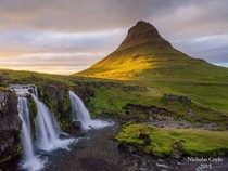 Sunset at Kirkjufell Snfellsnes Peninsula Iceland