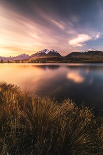 Sunset at Lake Clearwater New Zealand