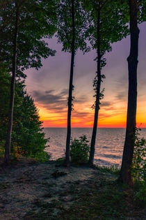 Sunset at Lake Erie Bluffs Ohio