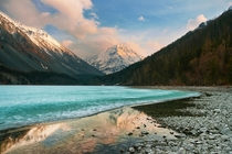 Sunset at Lake Kucherla in the Altai Mountains - photographed by Dmitry A Mottl