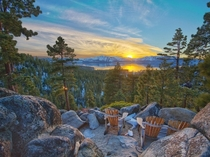 Sunset at Lake Tahoe CaliforniaNevada