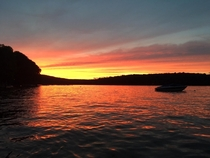 Sunset at Lake Wallenpaupack PA