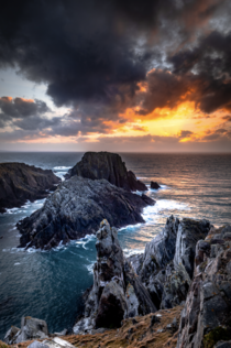Sunset at Malin Head Irelands most northerly point