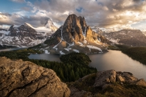Sunset at Mount Assiniboine Provincial Park  IG seanhphotography